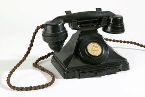 Bakelite telephone from early 20th century